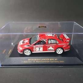 Mitsubishi Lancer WRC #7 T. Makinen Sanremo 2001 1/43 by IXO
