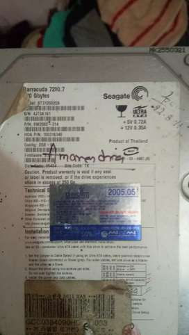 Hard drive selling segate,barracud 72.7 ,120Gbytes