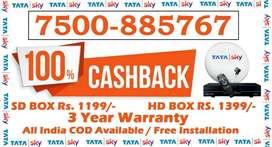 39% Off- Tata Sky DTH DishTV Tatasky Dish Videocon Airtel D2H -COD