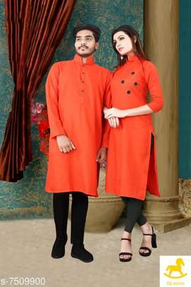 Men women kurta combo set