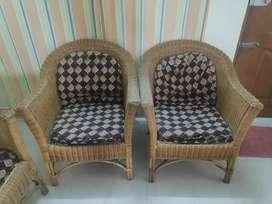3+1+1 Cane sofa