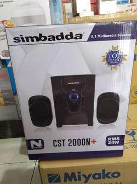 Promo speaker aktif simbadda simbada bluetooth ngebass cst 2000n+