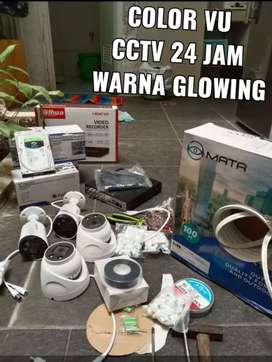 Cctv full color 24 jam warna 4 camera langsung onlin ke hp
