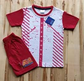 Kids baba suit (T-shirt & 3/4 bottom set )