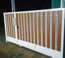Kami bengkel las nerimah pemasangan pagar grc motif kayu $$1790