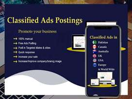 I will set up your business through top classified ad posting sites