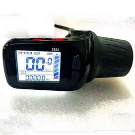 Electric bike scoter throttle accelerator with power display Led