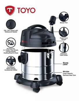 Wet dry suction blowing stainless steel body Vacuum cleaner