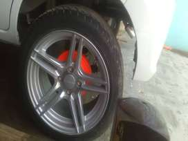 Alloy wheels with Lowe profile 15 inch tyer