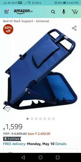 Adjustable Back rest support for patients. Price Rs 750 only