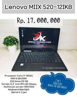 Zona Komputer | Laptop Lenovo MIIX 520-12IKB i7 ram 8gb touchscreen