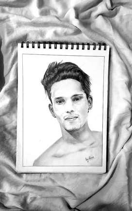 Art work, pencil portraits