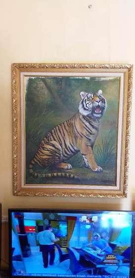 Lukisan cat kanvas