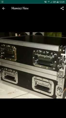 Hardcase flighcase power warna hitam body panjang 2U 3U 4U 5U