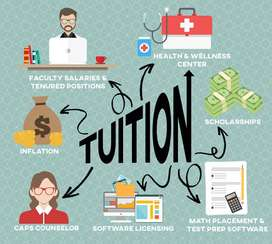 Tuitions Avaiable in reasonable fee that everyone can afford