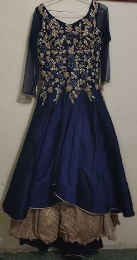 Diamond worked long gown