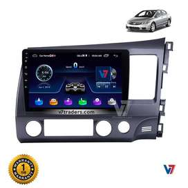V7 Honda Civic Reborn Android LCD Panel GPS Navigation dvd