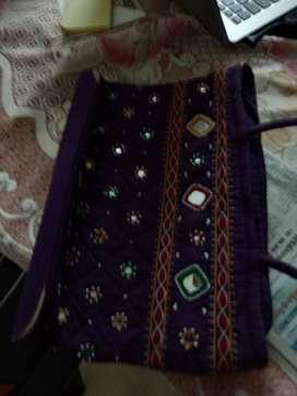 ethnic  mirror work handbag