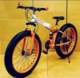 X-Trex Fat Tyre Foldable Cycle with dual suspension : MountainBike 26T
