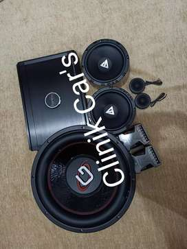 Paket audio mobil:subwoofer gardiner,power peerless& speaker Stealth**