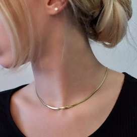 Snake Choker Necklace Chain Gold Men and Women