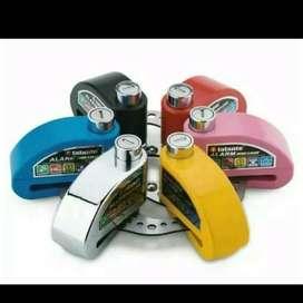 Kunci gembok pengaman anti maling cakram alarm sepeda motor ID343