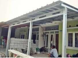 Kami bengkel las nerimah pemasangan kanopi atap sepandex $$2064