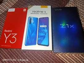 VIVO Z1X 6+64GB, REALME 5 ALL SEAL PACK