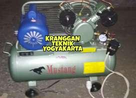 (KRANGGAN TEKNIK)Kompresor 1/2 hp merek Mustang+dinamo listrik
