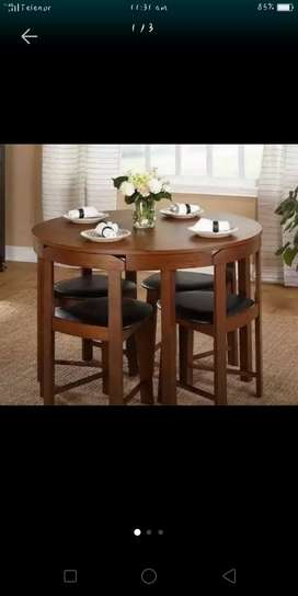 New wooden table and 4 Chair