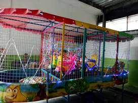 mandi bola gerobak fiber plat mainan koin animal ride odong ADD