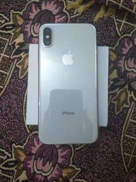 Iphone X silver. 256 GB set charger