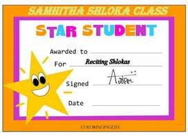 Shloka online classes  for the all d age group with certification
