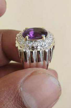 Natural batu kecubung ungu