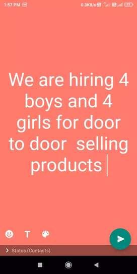 Door to door selling