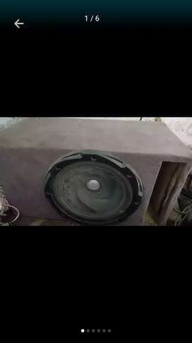 Amplifier and kenwood woofer