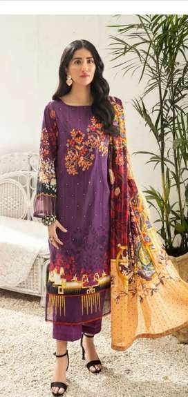 MISHAAL by Gulljee embroided lawn 3pc