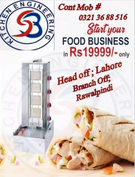 Shawarma machine 2,3,4 burner local , pizza oven kitchen machinery