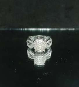Cincin Berlian Ring Emas Putih