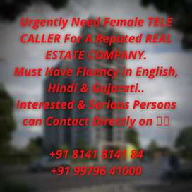 Need a Tele Caller Female for The Reputed REAL ESTATE COMPANY..