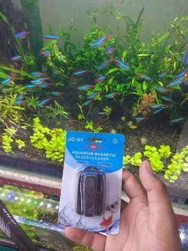 Magnet cleaner pembersih kaca aquarium /aquascape