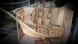 Miniatur kapal pinishi,