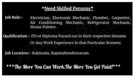 Need Skilled Workers