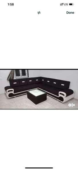 New sofa black n wight rs 121