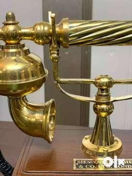 Worthy Shoppee Wooden Maharaja Style Antique Operational Telephone