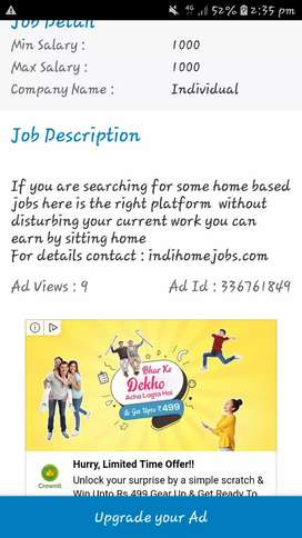 Are you searching for home based job ?