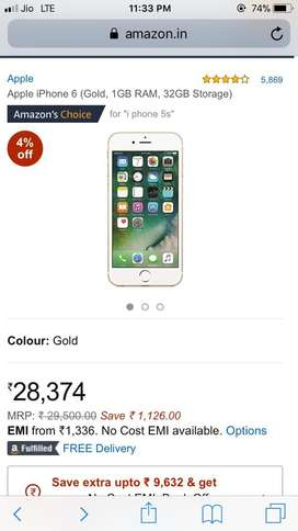 Iphone 6 32 gb gold colour
