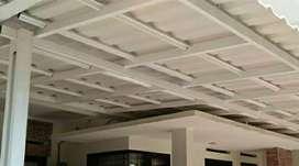Kanopi bajaringan atap alderon double terpasang bergaransi