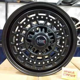 Velg mobil racing murah ring 15 HSR wheel pcd 4x100 dan 4x114,3 Gresik