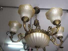 lampu gantung hias klasik minimalis cabang 6+3 ruang tamu mewah
